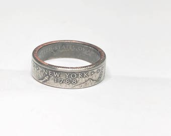 New York - Coin Ring - Coin Jewelry - Quarter Ring - Gift - State Wedding Ring - Husband - Wife - State Quarter Ring - Anniversary Gift