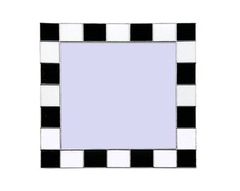 Art Deco Square Stained Glass Hand Made Mirror  ADM4   40cm x 40cm