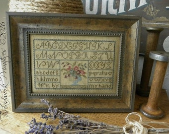 Primitive Cross Stitch Pattern - Painted Threads Sampler
