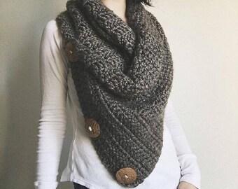 Oversized Cowl Crochet Pattern / Scarf / Handmade