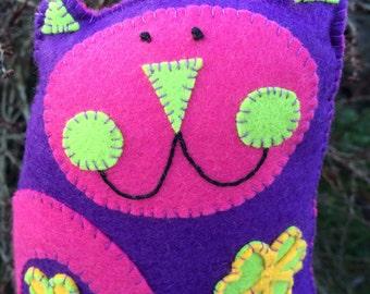Flower Kooky Kat Plush/Mini Pillow
