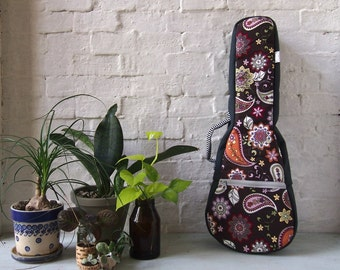 Concert ukulele  - Paisley -  ukulele case (Ready to ship)