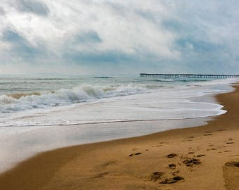 Virginia Beach - beach photograph - ocean art photography coastal sea