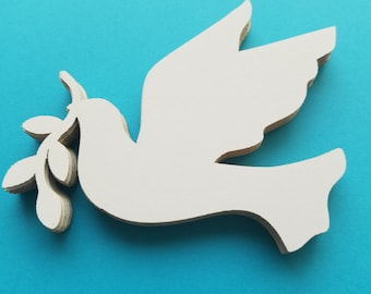 Flying Dove with Olive Branch Die Cut Outs ( Scrap Booking, Embellishment, Decoupage)