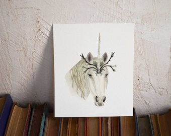 Unicorn Spirit  - Original Watercolor Illustration - By Tales Of Lichen