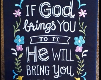8X10 Brightly colored Christian wall hanging