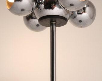 70s CHROME EYEBALL table lamp 4 head , USA