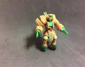 Felt Robot Toy - Forest Defender Mecha