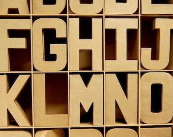 Carta cartapesta 3D grande lettere 20,5 cm - cartone Craft