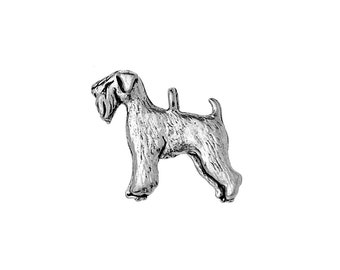 Welsh Terrier Charm, Welsh Terrier Jewelry, Silver Plated Welsh Terrier Dog Charm, Pewter Welsh Terrier Charm