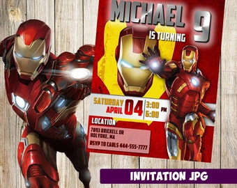 Iron man invitations etsy iron man invitation iron man party iron man birthday invitation iron man invitation filmwisefo