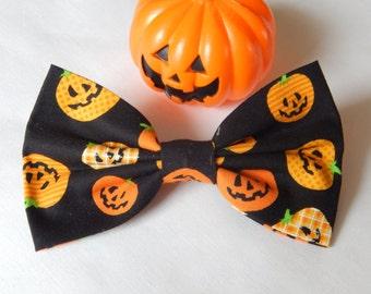 Jack-o-Lanterns hair bow Handmade Hair Accessory, halloween