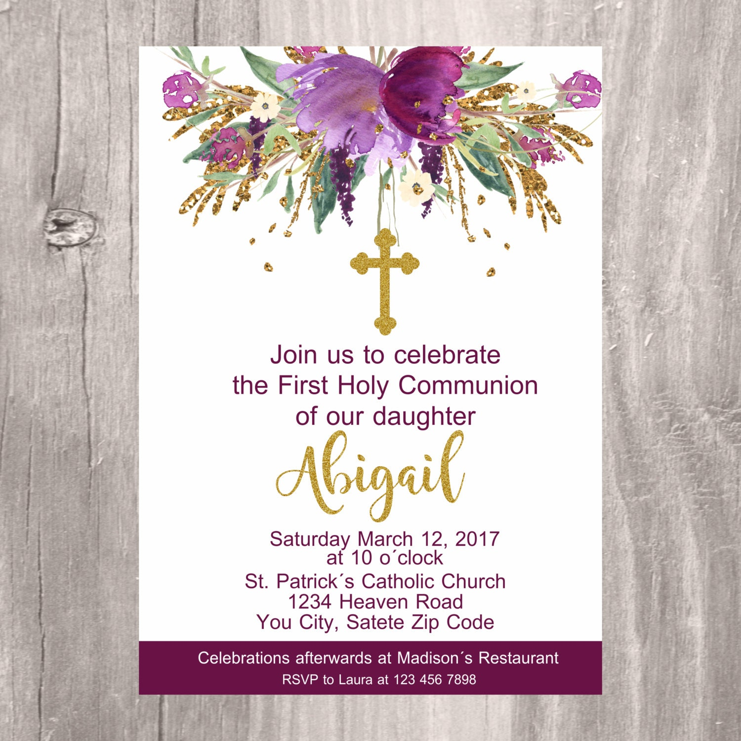 first holy communion invite printable invitation first