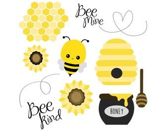 50% OFF Bee Clip Art Set - Set of 13 - Bee Clip Art - Bee Vector -  Instant Download - Print at home - Scrapbook