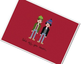 Bob & Doug McKenzie - The *Original* Pixel People - PDF Cross-stitch Pattern - INSTANT DOWNLOAD