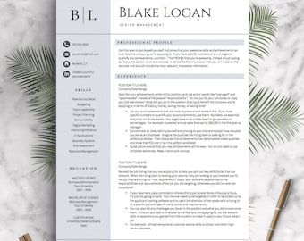 Professional resume templates cv templates by landeddesignstudio professional resume template for word pages 1 2 and 3 page resumes included thecheapjerseys Images