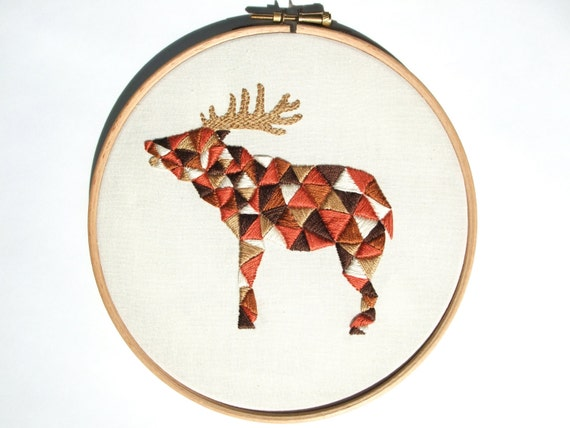 Geometric Modern Embroidery Design Pdf Pattern Geo
