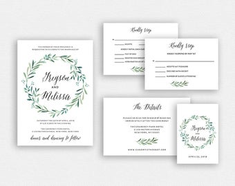Wedding Invitation Template | Wedding Invitation, Wedding Printable | Wedding Invite Template, Wedding Suite, Instant Download | EDN 5245