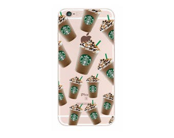 Cute Starbucks Coffee Cup Vintage Plant Chic Soft Case Coque For iPhone 7Plus 6Plus 7 6 6S 5 5S SE