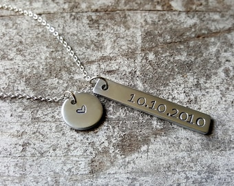 Our Special Date Necklace. Anniversary Necklace. Wedding Date. Special Date Jewelry. Remember the Date. Gift For Her. Valentine's Day
