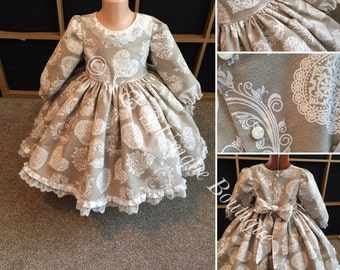 Vintage Hearts Boutique Baby/ Girls Dress. Can be made in other fabrics