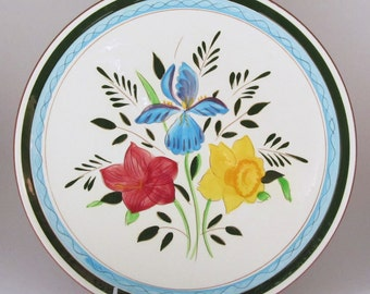 Stangl Country Garden Dinner Plate Stangl Pottery Floral Dinnerware Iris Hibiscus and Daffodil 1950s Dinnerware  sc 1 st  Etsy & Stangl dinner plates | Etsy