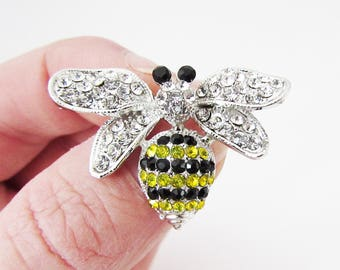 Small Bee Brooch, Bumble Bee Brooch Pin, Small Wasp Brooch, Wasp Brooch Pin, Bee Brooch, Wasp Jewellery, Bumble Bee Gift, Wasp Pin