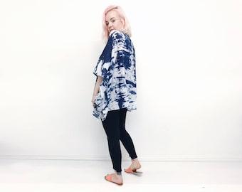 Tie dye kimono festival clothing beach cover up  beachwear cotton boho hippie jacket kaftan summer