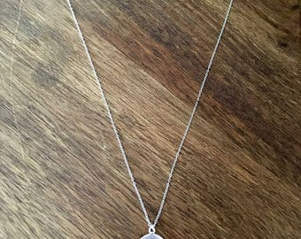 Horn/half moon 925 sterling silver necklace