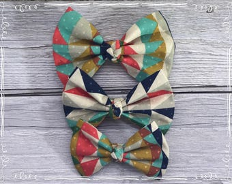 Mulit Color Fabric Hair Bow