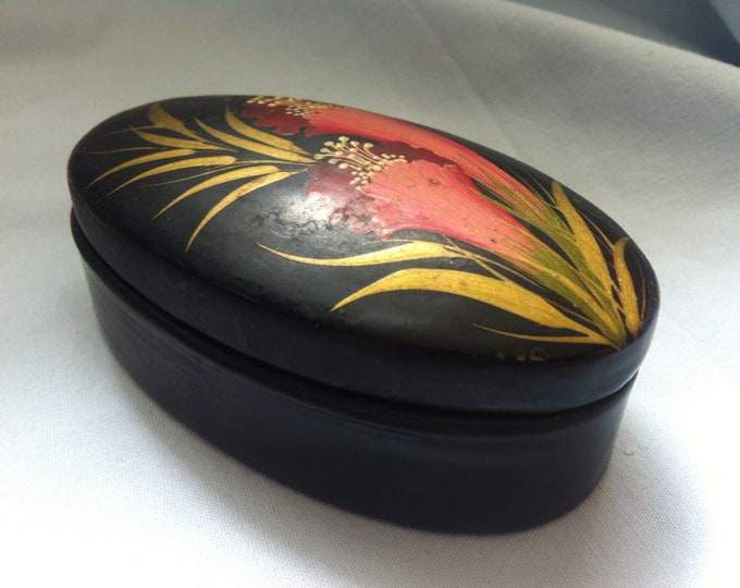 Black box Lackdose jewelry box Hand painted accessories decoration Casket