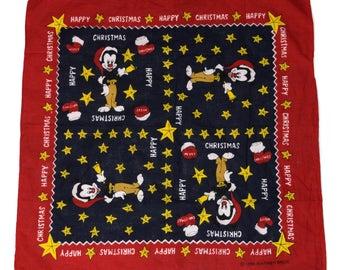 Vintage Worner Bros 1996 Happy Christmas scarf bandana 100% cotton