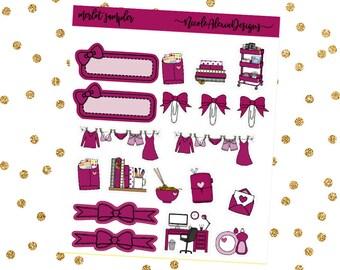 Merlot Sampler, Bow Planner Stickers