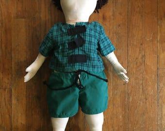 Vintage 1996 Grosz Stuffed Cloth Anatomy Doll - Educational - Shows Internal Organs