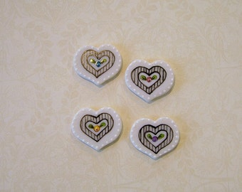 Carnival Heart set of 4