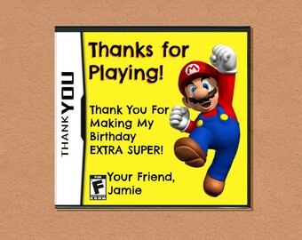 DIY Printable Video Game Thank You, Video Game Party, Gamer Birthday Party, Video Game Birthday, Customizable