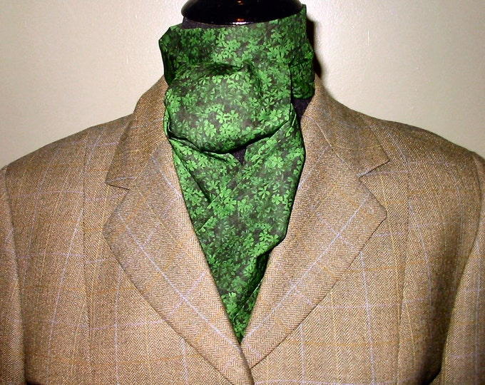 Green on Green Shamrock  Stock Tie
