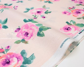 Japanese Fabric Bold Roses - pink - 50cm