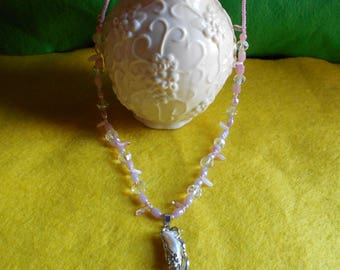 Protective Stick Pearl Necklace with 12 Crystals!