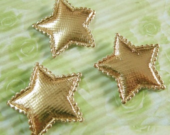 LOT 10 stars 30mm yellow gold embellishment