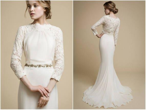 Modern Lace Wedding Dress