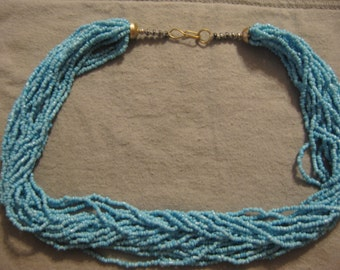 CLEARANCE SALE: Beaded Turquoise Multistrand Necklace