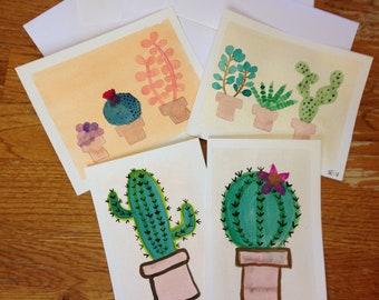 watercolor postcard pack - succulents