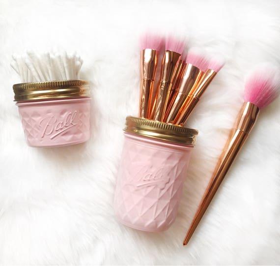 Soft Pink makeup brush holder makeup organiser baby pink
