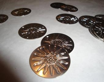 Round pattern Suns embossed metal plates