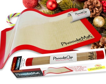 The Original PhoodieMat • Premium Silicone Baking Mat/Pastry Mat & Cookie Sheet/Baking Sheet Liner • Includes PhoodieClip for EZ Storage!