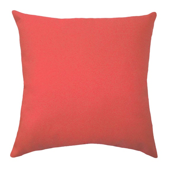 Coral Pillows Solid Coral Decorative Pillow Covers Coral