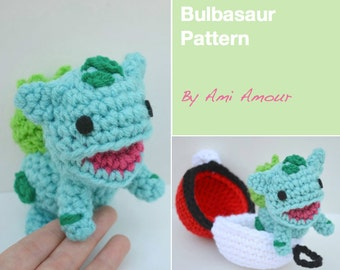 Bulbasaur Pattern Amigurumi Crochet Pokemon
