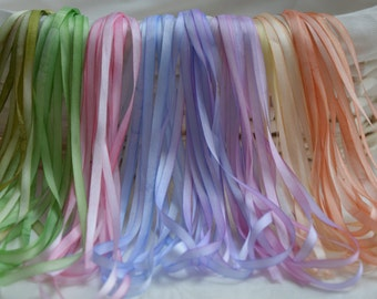 Flowers 4mm Silk Ribbon Collection