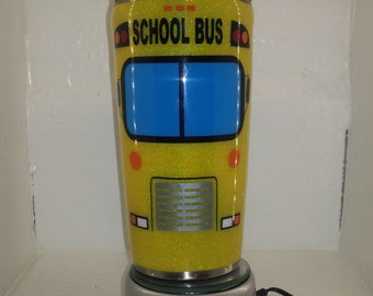School Bus - 20oz - glitter